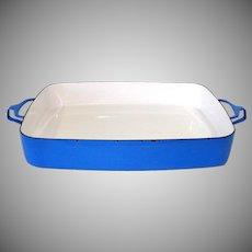 Dansk Blue Kobenstyle Enamel Extra Large Baking Pan