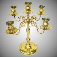 Baldwin 5 Light Brass Candelabra USA Made