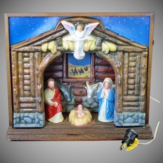 Royal Electric Musical Christmas Nativity Display in Original Box
