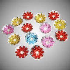14 Colored Foil Reflector Collars For Christmas Lights