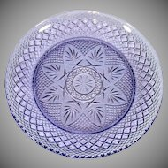Durand Antique Pattern 4 Amethyst Glass Salad Lunch Plates