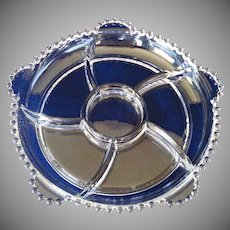 Imperial Candlewick 10 Inch 6 Part Crystal Relish Dish