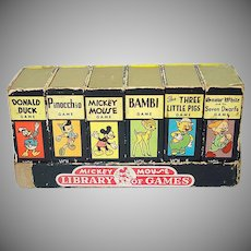 1946 Mickey Mouse Library of Games Complete