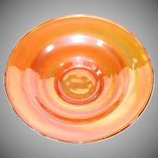 Federal 1930s Madrid Iridescent Console Bowl
