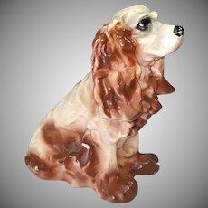 Chalkware Brown Cocker Spaniel Dog Large Bank Figure
