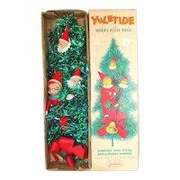 Boxed Yuletide Pixie Elves Tinsel Christmas Door Wall Tree