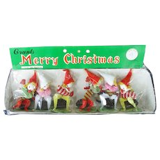 Set Pinecone Composition Christmas Elf Ornaments Sealed Package