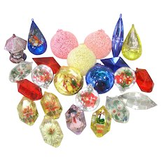 2 Dozen Jewel Brite Plastic Christmas Ornaments