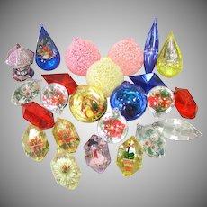 2 Dozen Jewel Brite Plastic Christmas Ornaments
