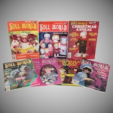 7 Issues National Doll World Magazine 1983
