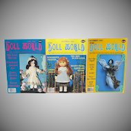 3 Issues National Doll World Magazine 1985
