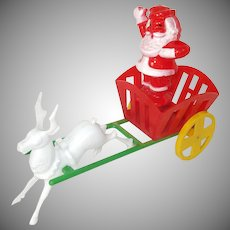 Rosen 1950s Santa's Candy Wagon Christmas Candy Container Display