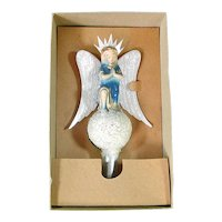 1930s Gloria Angel Composition Christmas Tree Topper In Box