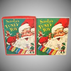 Santa's Tuney Toy 1956 Christmas Pop Up Book With Xylophone