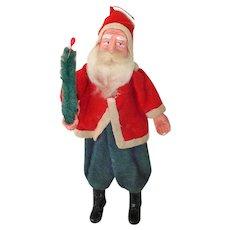 Japan Standing Clay Face Santa Christmas Putz Figure