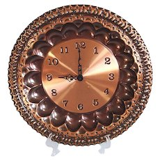 Italian Copper Charger Wall Clock