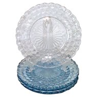 Anchor Hocking Blue Bubble Dinner Plates Mint, 6 Available