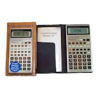 Construction Master II Building Calculator Complete in Box