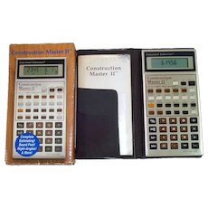Construction Master II Building Calculator Complete in Box
