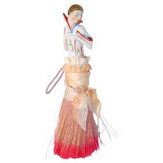 Deco Flapper Half Doll Clothing Brush