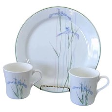 Corelle Shadow Iris Dinner Plate, 2 Mugs