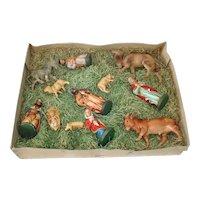 Friedel Ceramic Boxed Christmas Nativity Figures Set