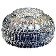 1920s Pressed Glass Ceiling Light Shade Beaded Bubble