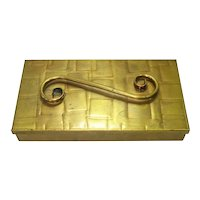 Gregorian Hammered Brass Playing Cards or Cigarette Box
