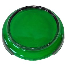 Anchor Hocking Forest Green Punch Bowl Base