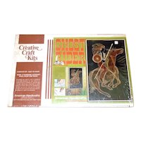 Ghost Rider 1970s String Art Kit Sealed Complete Indian on Horse