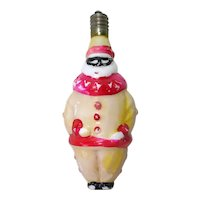 Working Masked Clown Figural Christmas Tree Light Bulb