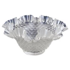 Satin Hobnail Ruffled Glass Lamp Shade 1.75 Inch Fitter, 2 Available