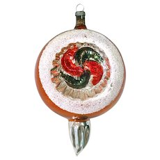 Antique German Indent Spike Glass Christmas Ornament