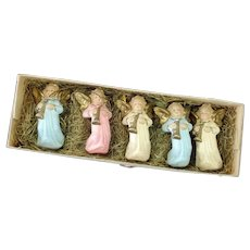 Box German Composition Angel Christmas Ornaments