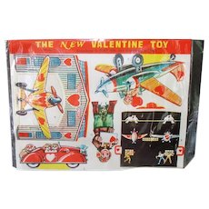 Doubl-Glo 1940s Punch Out Valentine Toy Airplanes