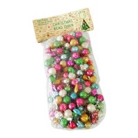 Beaded Glass Christmas Garland Original Package Multi Color