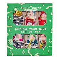 Box Shiny Brite Dwarf Band Chenille Pinecone Christmas Gnomes