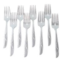 Jennifer Oneida 8 Silverplate Salad Forks 1959