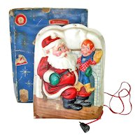 Royal Electric 1950s Lighted Santa Howdy Doody Christmas Plaque