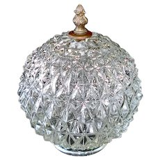 Regency Diamond Crystal Swag Lamp Light Fixture Shade, 2 Available