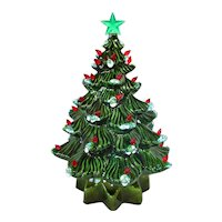 1972 Ceramic Musical Lighted Tabletop Christmas Tree