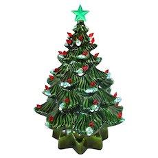 1972 Ceramic Musical Lighted Tabletop Christmas Tree