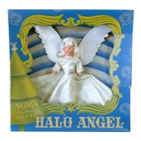 1943 Noma Composition Face Halo Angel Christmas Tree Topper