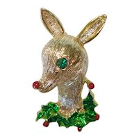 Gerrys Rudolph Reindeer Christmas Pin or Brooch