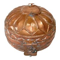 Round Copper Dabba Lunch Box