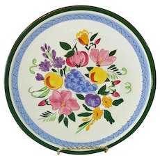 Stangl Pottery Fruit and Flowers Dinner Plate