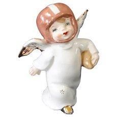 1950s Little Boy Football Player Angel Figurine
