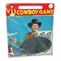 1950s Dimestore Cowboy Game Toy Mint in Package
