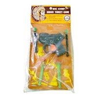 1950s Big Chief Indian Target Game Dart Gun Toy Offensive