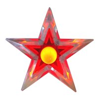 Noma Glo Star Lighted Lucite Christmas Tree Topper Red Blue